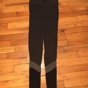 Aerie gray to black ombré leggings